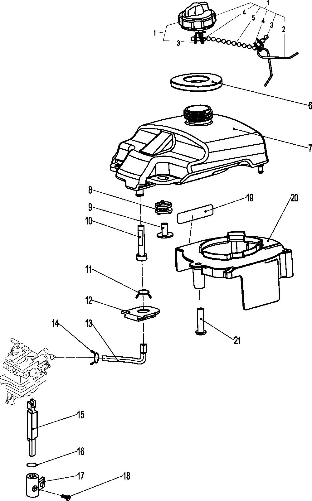 Parsun sprängskiss F2.6 FUEL